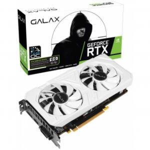 PLACA DE VÍDEO GALAX GEFORCE RTX 2060 EX WHITE DUAL, 6GB GDDR6, 192BIT, 26NRL7HPY3EW por R$ 1939
