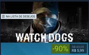 [STEAM] Watch_Dogs 90%OFF - R$ 6