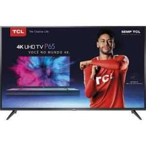 "Smart TV LED 65"" TCL P65US Ultra HD 4K HDR 65P65US 3 HMDI 2 USB   R$3.420"
