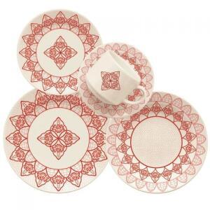 Jogo de Jantar Cerâmica 20 peças Donna Oxford - diversos modelos - R$99