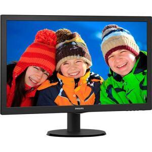 "Monitor LED 23.6"" Widescreen Philips 243V5QHABA Full HD Conexão HDMI | R$497"