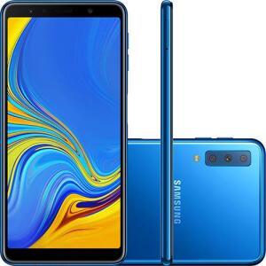 "Smartphone Samsung Galaxy A7 64GB Dual Chip Android 8.0 Tela 6"" Octa-Core 2.2GHz 4G Câmera Triple - Preto | R$1.231"