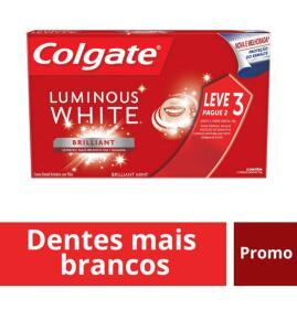 6 creme dental LUMINOUS WHITE - 2Kits com 3Und [APP AMERICANAS]