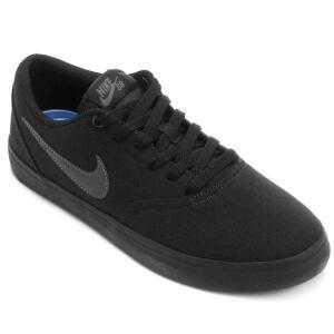 Tênis Nike Sb Check Solar Cnvs Masculino - Preto