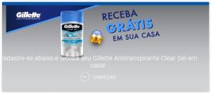 Receba Gratuitamente o Gillette Antitranspirante Clear Gel