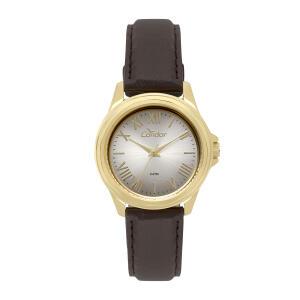 Relógio Analógico Condor Eterna Feminino Marrom CO2039BD/2K | R$67
