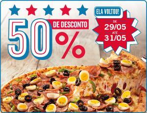 50% OFF  na Domino Pizza