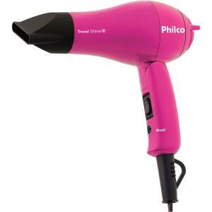 Secador de Cabelos Philco Travel Shine Rosa 1000W - Bivolt - R$25