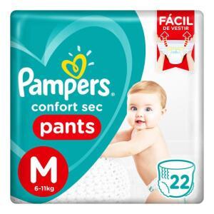 Fralda Pampers Confort Sec Pants M 22 Tiras - R$23