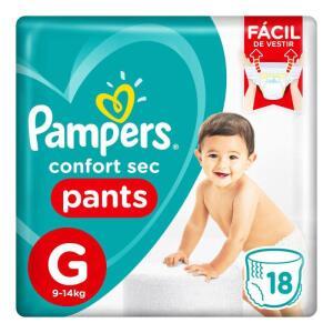 Fralda Pampers Confort Sec Pants G 18 Tiras | R$22