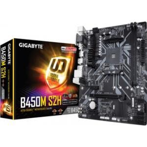 PLACA MÃE GIGABYTE B450M S2H, CHIPSET B450, AMD AM4, MATX, DDR4 | R$469