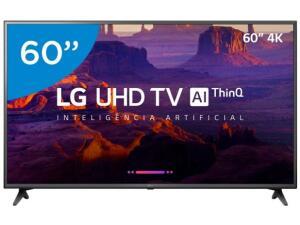"Smart TV 4K LED 60"" LG 60UK6200 Wi-Fi HDR - Inteligência Artificial Conversor Digital 3 HDMI | R$2.880"