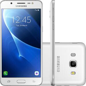 "Smartphone Samsung J7 Galaxy Metal 2016 Dual Chip Desbloqueado Oi Android 6.0 Tela 5.5"" 16GB 4G Câmera 13MP - Branco | R$600"