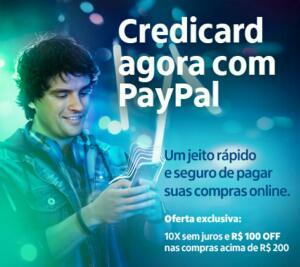 R$100 de desconto nas compras acima de R$200 pagando com PayPal