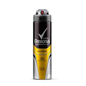 Desodorante Antitranspirante Rexona Masculino Aerosol V8/Amarelo 90g - R$7