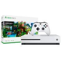 Console Microsoft Xbox One S 1TB Branco + Game Minecraft