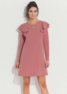 Vestido Quintess Rosê com Babados na Cava R$50