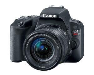 Canon Câmera Digital EOS Rebel SL2 EF-S 18-55mm f/4-5.6 kit, Preto - R$2099
