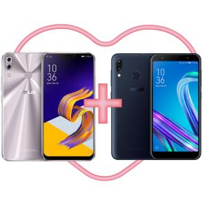 Zenfone 5z 8gb/256gb prata + zenfone Max pro M2 3gb/32gb | R$2.799