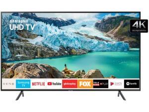 "Smart TV 4K LED 75"" Samsung UN75RU7100 Wi-Fi - HDR Conversor Digital 3 HDMI 2 USB | R$6.209"