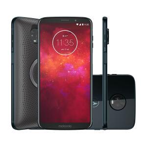 "Smartphone Moto Z3 Play Stereo Speaker Edition 64GB Indigo Tela 6"" Câmera 12MP Android 8.1 por R$ 1449"