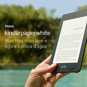 Novo Kindle Paperwhite – 8GB – Agora à prova d'água R$419