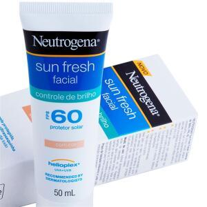 Protetor Solar Facial com Cor Neutrogena - Sun Fresh Controle de Brilho FPS 60 - 50ml R$41