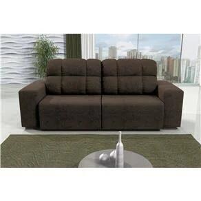 Sofá 4 Lugares Linoforte Versalhes com Assento Retrátil e Encosto Reclinável em Tecido Suede | R$854