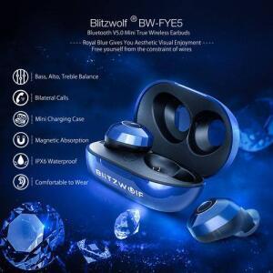 Fone De Ouvido Blitzwolf Bw-fye5 Bluetoothv5.0 Estéreo Sem Fio Recarregável(INTERNACIONAL)