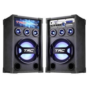 Caixa Amplificada TRC 369 400W RMS Bluetooth, USB com Rádio FM R$449