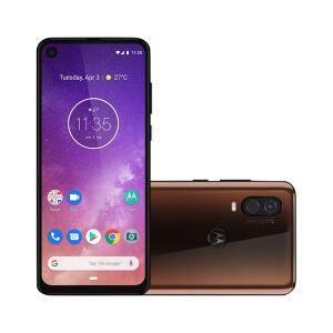 "Smartphone Motorola Moto One Vision 128GB Bronze Tela 6,3"" Câmera Dupla 48MP Selfie 25MP Android 9.0 Pie por R$ 1399"