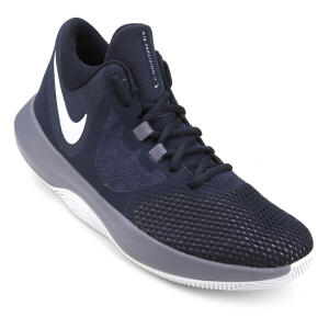 Tênis Nike Air Precision II Masculino - Marinho e Cinza | R$193
