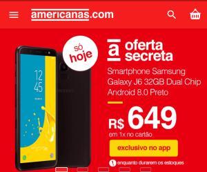 """Smartphone Samsung Galaxy J6 32GB Dual Chip Android 8.0 Tela 5.6"""" Octa-Core 1.6GHz 4G Câmera 13MP com TV - Preto"""