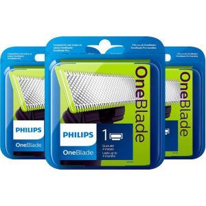 [R$135,99 AME] Kit 3 Lâminas Oneblade Qp21050 - Philips