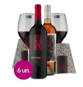 WineBox Casal Romântico: 2 garrafas + 2 taças de cristal R$195 (R$166 Sócio)