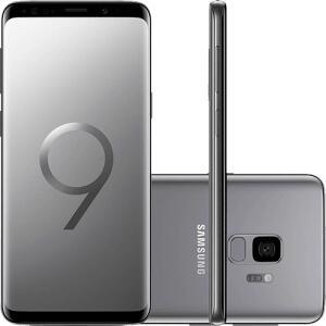 "(R$2.144 com AME) Smartphone Samsung Galaxy S9 Dual Chip Android 8.0 Tela 5.8"" Octa-Core 2.8GHz 128GB 4G Câmera 12MP - Cinza - R$2.357"