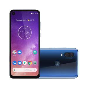"Smartphone Motorola Moto One Vision 128GB  Tela 6,3"" Câmera Dupla 48MP Selfie 25MP Android 9.0 Pie | R$1.213"