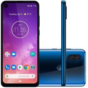 "Smartphone Motorola Moto One Vision 128GB Azul Tela 6,3"" Câmera Dupla 48MP Selfie 25MP Android 9.0 Pie"