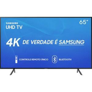 "[AME] Smart TV LED 65"" Samsung 65RU7100 Ultra HD 4K com Conversor Digital 3 HDMI 2 USB por R$ 3783"