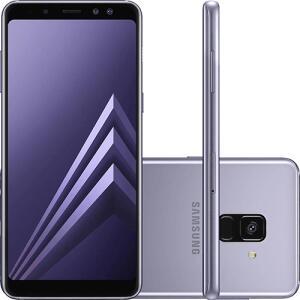 "Smartphone Samsung Galaxy A8 Plus Dual Chip Android 7.1 Tela 5.6"" Octa-Core 2.2GHz 64GB 4G Câmera 16MP - Preto - R$1642"