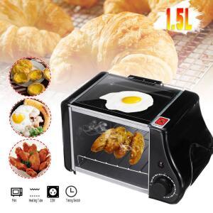 [Envio Internacional] 3 em 1: Mini Forno-Torradeira-Frigideira Elétrica 1.5L 220V - R$119