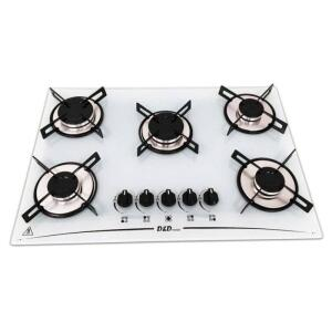 Cooktop 5 Bocas Branco Mega Chama D&d Metal Bivolt Ce05br - R$315