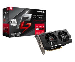 Placa de Vídeo ASRock Radeon RX 580 Phantom Gaming 8Gb