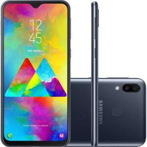 "(R$959 com AME) Smartphone Samsung Galaxy M20 64GB Dual Chip Android 8.1 Tela 6.3"" Octa-Core 4G Câmera 13MP + 5MP - Preto | R$1.079"