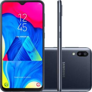 "(R$709 com AME) Smartphone Samsung Galaxy M10 32GB Dual Chip Android 8.1 Tela 6,2"" Octa-Core 4G Câmera 13+5MP - Preto   R$809"