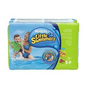 Fralda para piscina Huggies P com 12 unidades.