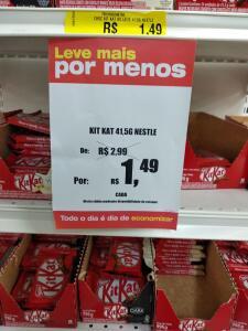 [Loja física - Lojas Americanas] Chocolate KitKat 41,5g - R$1,49