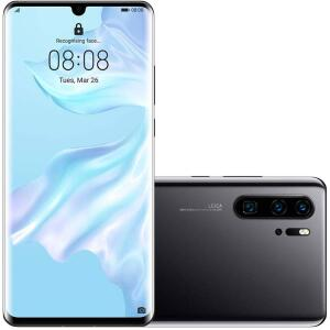 "Smartphone Huawei P30 Pro 256GB Dual Chip Android 9.0 Tela 6,4"" Huawei Kirin 980 Octa-core 4G Câmera Tripla 40+20+8MP - Preto"