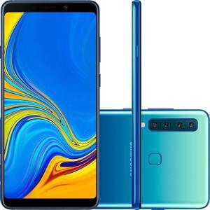 "Smartphone Samsung Galaxy A9 128GB Dual Chip Android 8.0 Tela 6.3"" Octa-Core 2.2GHz 4G Câmera 24MP + 5MP + 10MP + 8MP - Azul R$1660"