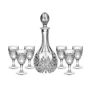 Jogo de Licoreira e Copos Dublin Cristal 7 Peças - Home Style | R$150